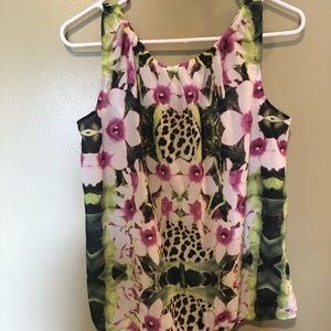 NWOT Joe Fresh floral and leopard tank small